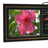 17 inch LCD Advertising Player met acryl Faceplate