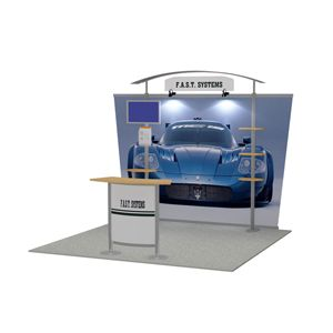 10 x 10 (feet) Fast Exhibition Trade Show Display