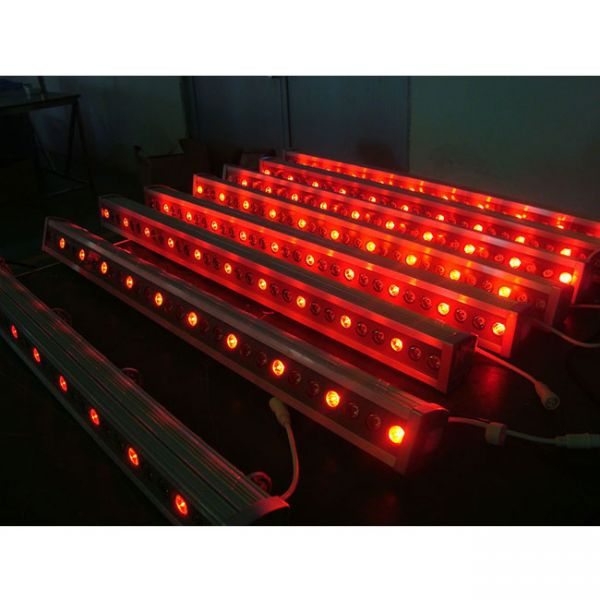 24 x 3w rgb led wall washer light bar. Black Bedroom Furniture Sets. Home Design Ideas