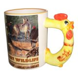11OZ Sublimation Tasse en céramique animale