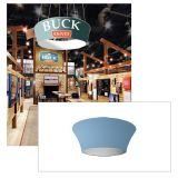 10ft Ceiling Banner Display Trade Show Tapered Circle Hanging Sign (Single Sided Graphic)