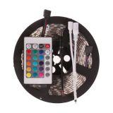 3528 방수 RGB 다채로운 스트립 + 24 키 원격 제어