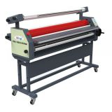 "63"" Full - auto Wide Format Roll Heat Assisted Cold Laminator with Stand"