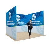 10ft U Shape Back Wall Display with Custom Fabric Graphic