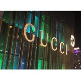 Outdoor Front Lit LED Punch Exposed Channel Letter, Pierced Metal Border