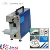 US Stock, Portable Maxphotonic 20W Fiber Laser Marking and Engraving Machine, Ratory Axis Include