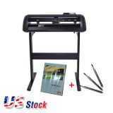 "US Stock-24"" Vicsign Vinyl Cutter with CCD Camera, Full Auto Contour Cut Function"