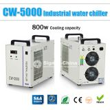 S&A CW-5000DG Industrial Water Chiller for Single 80W or 100W CO2 Glass Laser Tube Cooling, 0.41HP, AC 1P 110V, 60Hz