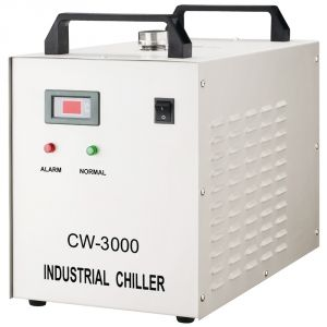Ving AC110V 60Hz CW-3000DG Thermolysis Industrial Water Chiller for Laser Engraving Cutter with 60W / 80W CO2 Glass Laser Tube