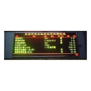 P10 semioutdoor Tricolor LED messageboard