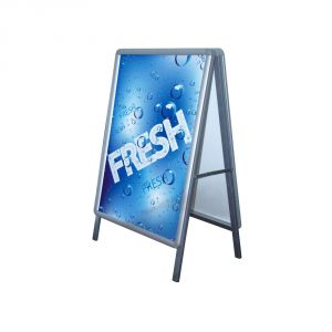 New Double Sided Freestanding 60x85cm A Frame Poster Stand Street Sign Display Board Without Graphic Printing