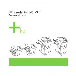 HP LaserJet M4345 MFP English Maintenance Manual