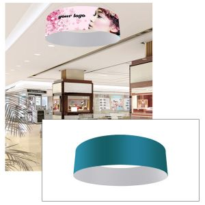 10ft Ceiling Banner Display Circle Hanging Sign with Stretch Fabric Graphics
