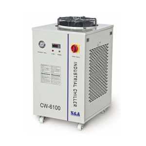 Ving CW-6100AI Industrial Water Chiller for 2 x 200W or Single 400W CO2 Glass Laser Tube Cooling, 1.84HP, AC 1P 220V, 50Hz