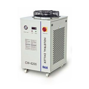 2.28HP, AC 1P 220V 50HZ CW-6200AI Industrial Water Chiller for Dual 200W CO2 Glass Laser Tubes or Welding Equipment