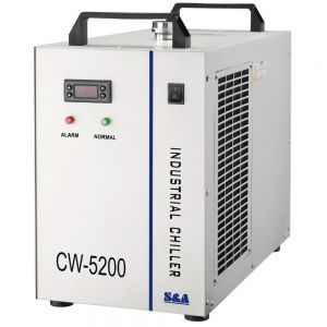 CW-5200DG Industrial Water Chiller for Single 130/150W CO2 Laser Tube Cooling, 0.93HP, AC 1P 110V, 60Hz