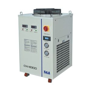 Ving 3.46HP, AC 3P 380V 50HZ CW-6300ET Industrial Water Chiller for a Single 800W Fiber Laser Cooling, Dual Temperature and Dual Pump