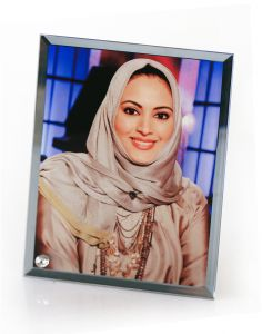 "15""x 11"" Hypotenuse Sublimation Blank Glass Photo Frame"