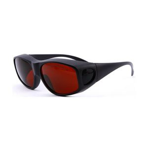 Laser Safety Protective Goggle Glasses  for 532nm YAG laser  with flank protection