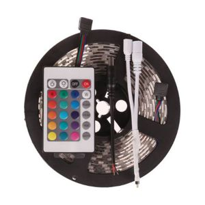5050 Non-waterproof RGB Colourful Strip + 24 Key Remote Control
