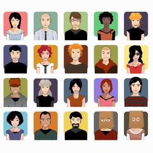 Different People Character Vector Stock Set Illustrations (Free Download Illustrations)