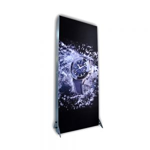 "33.5"" x 78.7"" New Removable Fabric Tension LED Light Box Portable Trade Show Display (Double Graphics Included)"