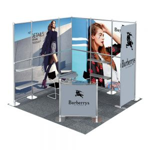 10FT x 10FT No Tool Portable Modular Trade Show Display System