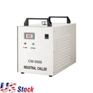 US Stock-Ving AC 1P 110V 60HZ CW-3000DF Thermolysis Industrial Water Chiller for 0.8KW / 1.5KW Spindle Cooling