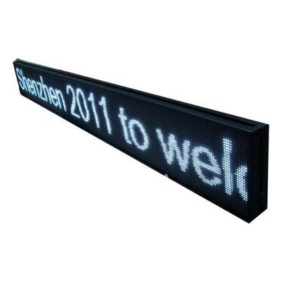"40"" x 6"" Semi Outdoor 2 Lines LED Scrolling Sign(Tricolor or Single Color)"