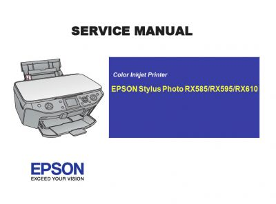 EPSON RX585 RX595 RX610 Printer English Service Manual (Direct Download)
