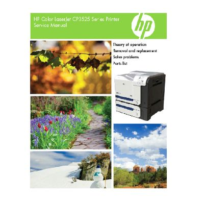 HP Color LaserJet CP3525 English Service Manual