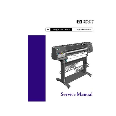 HP Designjet 1050C 1055CM Large Formart Printer Plotter Service Manual (Direct Download)