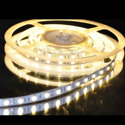 White Color Flexible LED Light Strip(60 SMD 5050 leds per meter nonwaterproof) 5m/roll