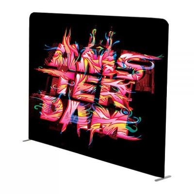 8ft Straight Portable Tension Fabric Wall (Double Sided Graphics Included)
