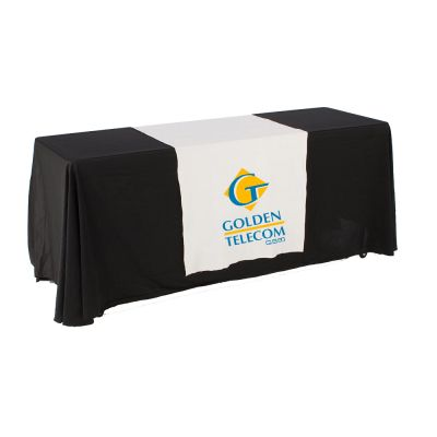 "30""W Table Runner with 2-Color Printing on White"
