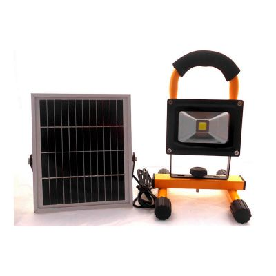 Portable 5W Solar LED Flood Light Outdoor Portable Work Light Cordless