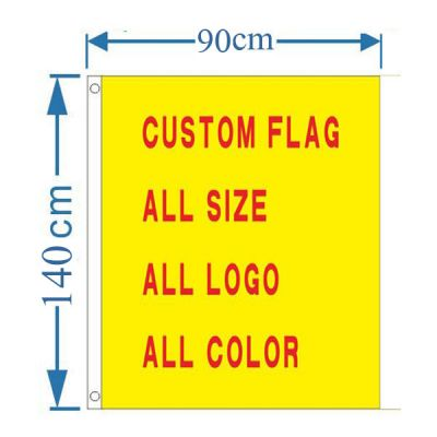 2.95´ x 4.59´ Custom Design Rectangle Flag Banner(Only Graphic)