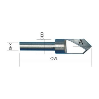 Solid Carbide V-Groove Bits