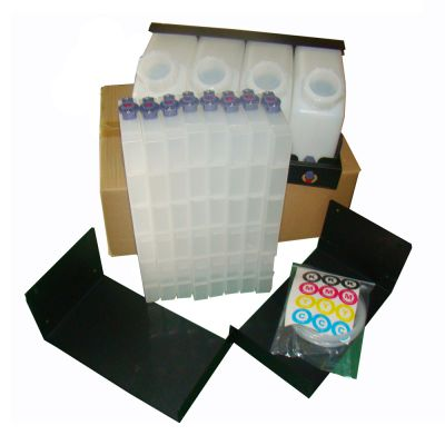 Mutoh Bulk Ink System with Vertical Cartridges--4 Bottles, 8 Cartridges