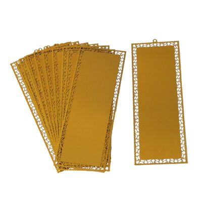 100pcs Packed Metal Bookmark with Dents for Sublimation Printing