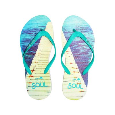 Sublimation Flip Flop Beach Sandal Slipper with Colorful Belt for Adult