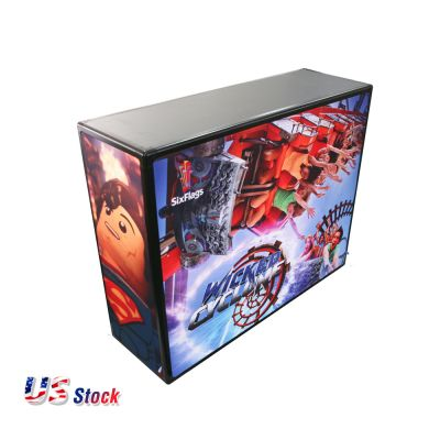 US Stock-Rectangle Light Box Counter (Frame Only)
