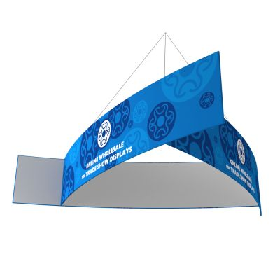 10ft Ceiling Banner Display Trade Show Pinwheel Circle Hanging Sign (Single Sided Graphic)