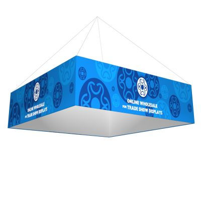 16ft Ceiling Banner Display Trade Show Square Hanging Sign (Double Sided Graphic)