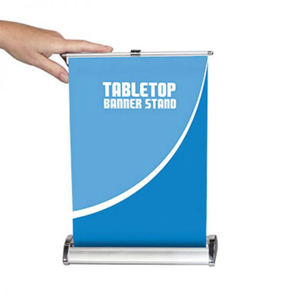 8 Quot W X 12 Quot H Table Top Roll Up Banner Stand Stand Only