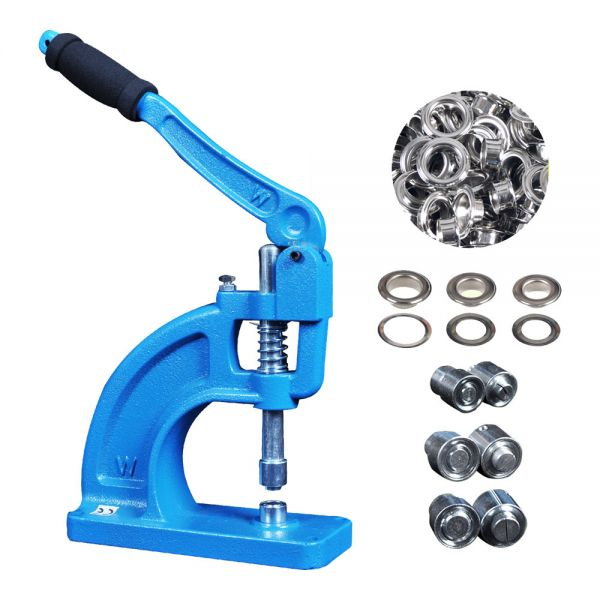 Heavy Duty Hand Press Grommet Machine Tool Full Set Kit 3