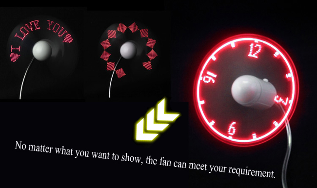 led message fan application photo