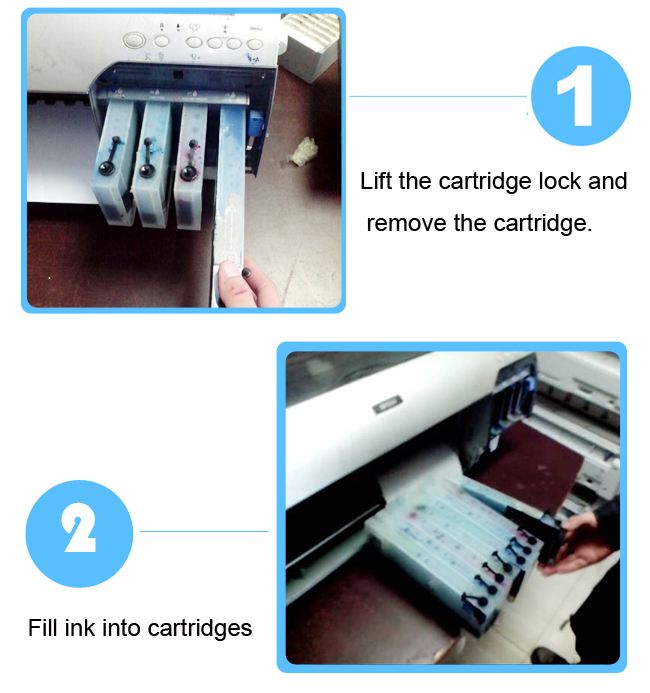 Epson 4880 Refilling Cartridge installation steps