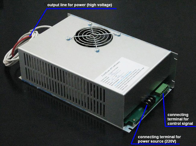 Reci Power Supply for 100 - 120W W4 CO2 Laser Tube