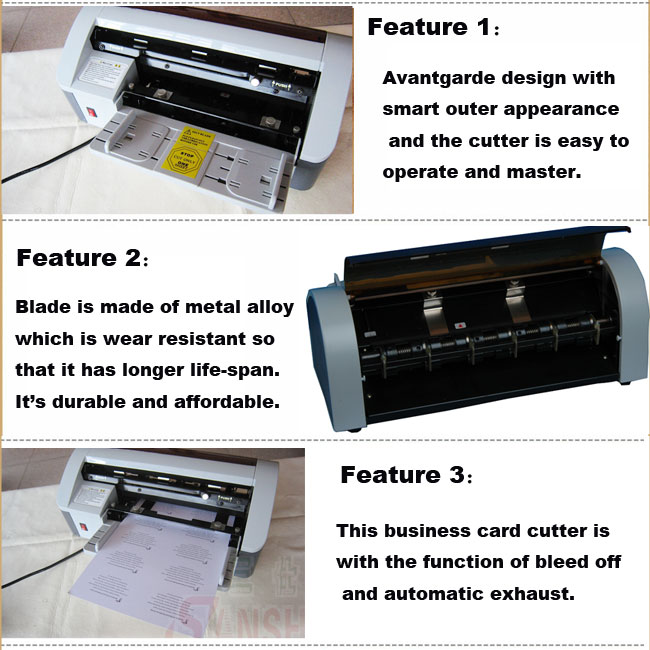 Semi-Automatic Name Card Cutter features